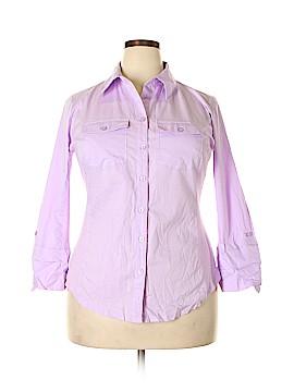Elementz Long Sleeve Button-Down Shirt Size 1X (Plus)