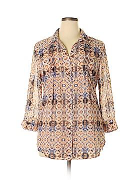Vintage America Blues 3/4 Sleeve Blouse Size XL