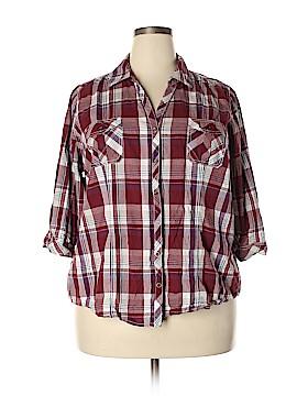 SONOMA life + style 3/4 Sleeve Button-Down Shirt Size 2X (Plus)