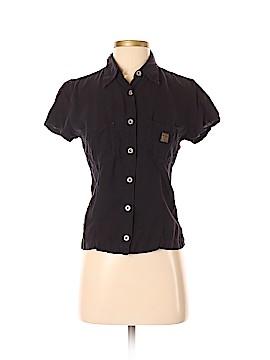 A Gold E Short Sleeve Button-Down Shirt Size XS