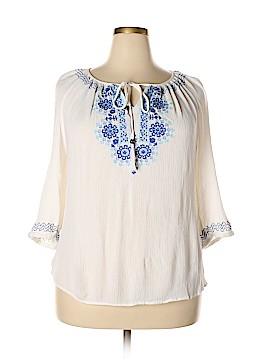 Adrienne Vittadini 3/4 Sleeve Blouse Size 2X (Plus)
