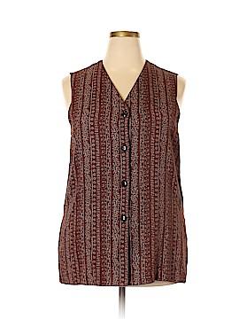 Briggs New York Sleeveless Button-Down Shirt Size 1X (Plus)