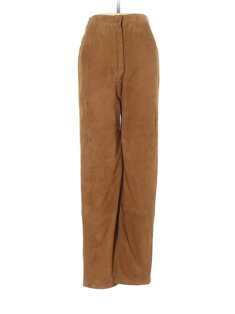 Max Mara Women Faux Leather Pants Size 2