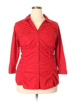 Lane Bryant 3/4 Sleeve Button-Down Shirt Size 22 - 24 (Plus)