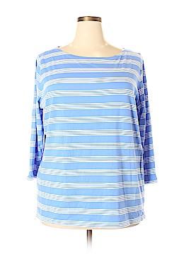 Jones New York Signature 3/4 Sleeve T-Shirt Size 3X (Plus)