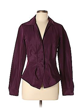 Donna Karan Collection Long Sleeve Button-Down Shirt Size 10