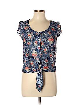 Robin K. Short Sleeve Button-Down Shirt Size XS
