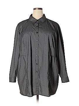 Liz & Me Long Sleeve Button-Down Shirt Size 2X (Plus)