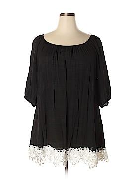 J Mode USA 3/4 Sleeve Blouse Size 3XL (Plus)
