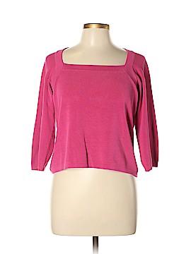 Joseph A. 3/4 Sleeve Silk Top Size L