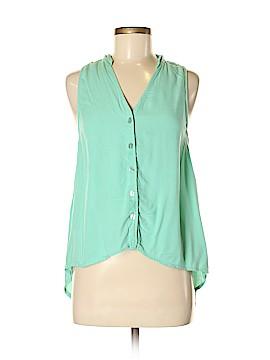 Alternative Apparel Sleeveless Button-Down Shirt Size M