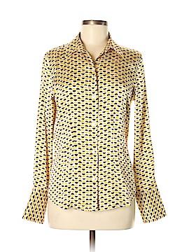 Moda International Long Sleeve Silk Top Size M