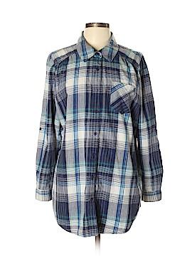 Fashion Bug Long Sleeve Button-Down Shirt Size 0X (Plus)