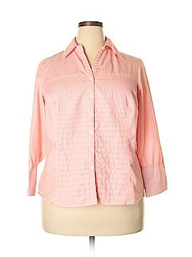 Zac & Rachel Long Sleeve Button-Down Shirt Size 1X (Plus)