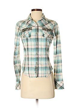 Daytrip Long Sleeve Button-Down Shirt Size S