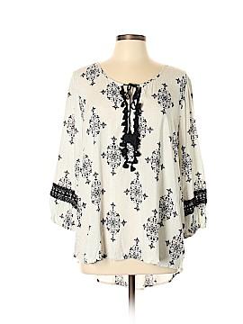 Kori America 3/4 Sleeve Blouse Size L
