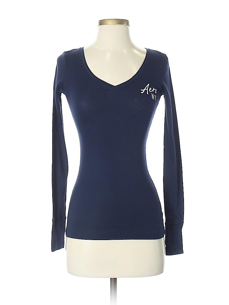 581424e3 Aeropostale Graphic Navy Blue Long Sleeve T-Shirt Size XS - 50% off ...