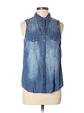 Polly & Esther Sleeveless Button-Down Shirt Size M