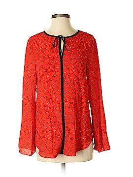 Libby Edelman Long Sleeve Blouse Size S