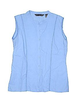Saint Tropez West Sleeveless Button-Down Shirt Size XL