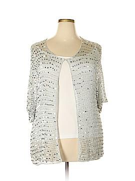 Maggie Barnes Silk Cardigan Size 3X (Plus)