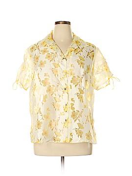 Susan Graver Short Sleeve Blouse Size 1X (Plus)