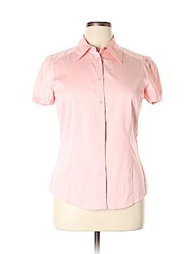 INC International Concepts Short Sleeve Button-Down Shirt Size 14