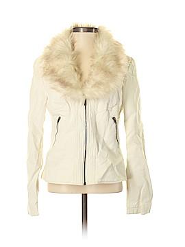V Cristina Faux Leather Jacket Size S