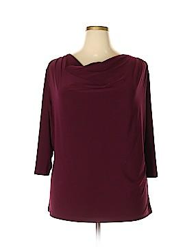 Roz & Ali Long Sleeve Top Size 3X (Plus)