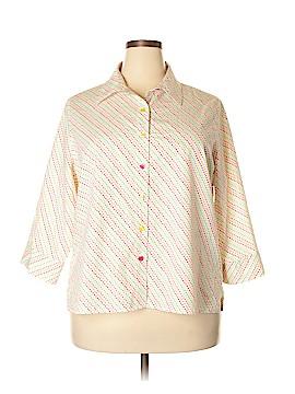 Breckenridge 3/4 Sleeve Button-Down Shirt Size 2X (Plus)