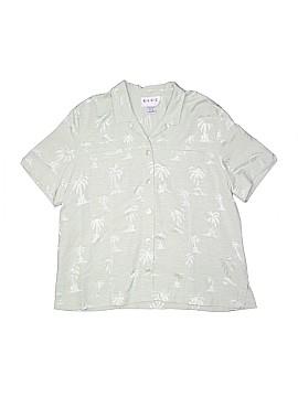 E.L.C.C. Short Sleeve Silk Top Size L