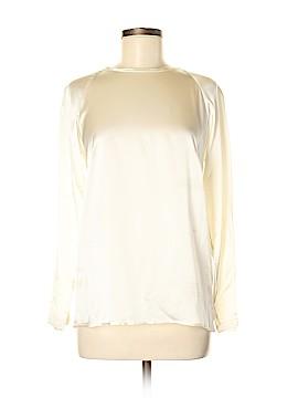 Harvey Faircloth Long Sleeve Silk Top Size 6