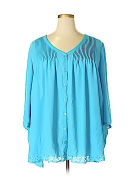 Denim 24/7 3/4 Sleeve Blouse Size 26 (Plus)