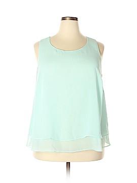 Bisou Bisou Sleeveless Blouse Size 1X (Plus)