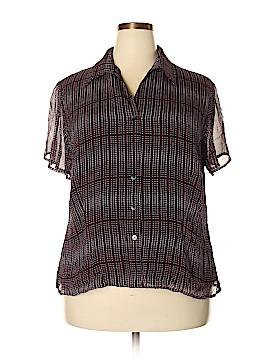 Jones New York Collection Short Sleeve Silk Top Size 18 (Plus)