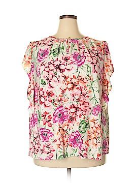 Roz & Ali Short Sleeve Blouse Size 3X (Plus)