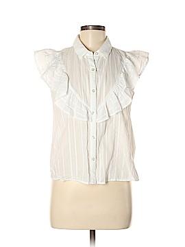 Mango Short Sleeve Button-Down Shirt Size M