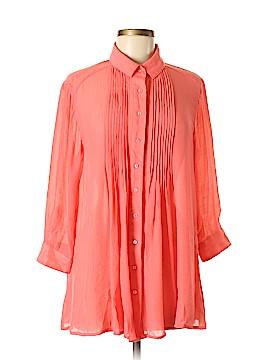 Alfani 3/4 Sleeve Button-Down Shirt Size M