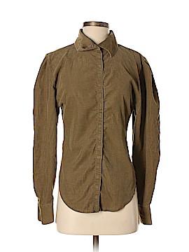 Norma Kamali Long Sleeve Button-Down Shirt Size M