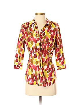 Lafayette 148 New York 3/4 Sleeve Button-Down Shirt Size 4