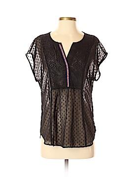 Black Rainn Short Sleeve Blouse Size S