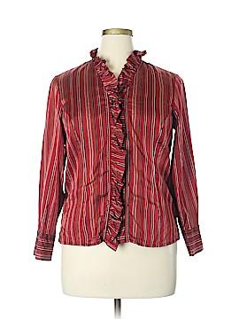 Appleseeds Long Sleeve Silk Top Size 14