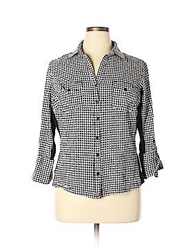 Zac & Rachel 3/4 Sleeve Button-Down Shirt Size 2X (Plus)