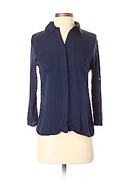 INC International Concepts 3/4 Sleeve Button-Down Shirt Size XS