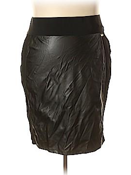 Calvin Klein Faux Leather Skirt Size 3X (Plus)