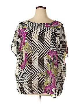 Jaclyn Smith Short Sleeve Blouse Size 1X (Plus)