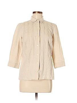 Liz Claiborne 3/4 Sleeve Button-Down Shirt Size S