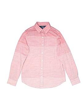 Arizona Jean Company Long Sleeve Button-Down Shirt Size 10