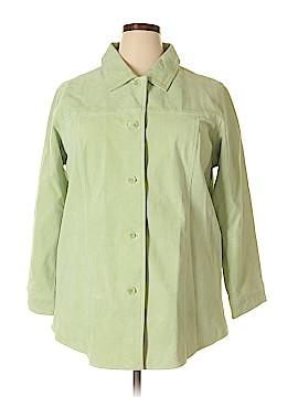 Denim & Co Leather Jacket Size 1X (Plus)
