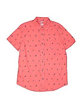 Arizona Jean Company Short Sleeve Button-Down Shirt Size 18 - 20 Husky (Husky)